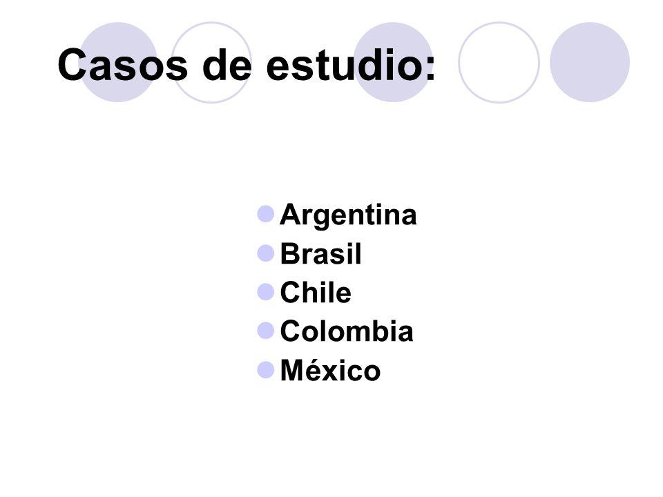 Argentina Brasil Chile Colombia México Casos de estudio: