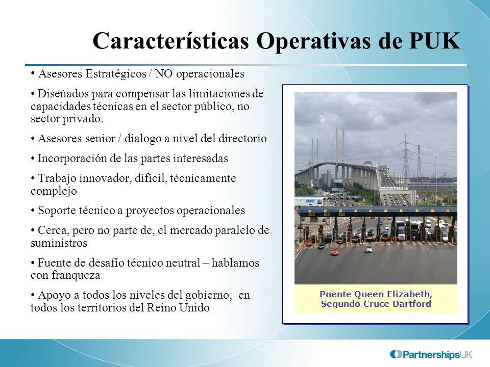 Características Operativas de PUK Asesores Estratégicos / NO operacionales Diseñados para compensar las limitaciones de capacidades técnicas en el sec