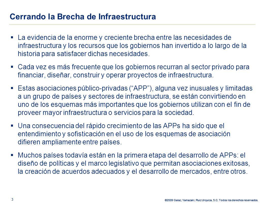 ©2009 Galaz, Yamazaki, Ruiz Urquiza, S.C. Todos los derechos reservados. La evidencia de la enorme y creciente brecha entre las necesidades de infraes