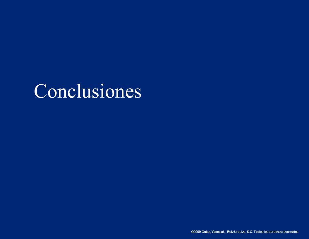 ©2009 Galaz, Yamazaki, Ruiz Urquiza, S.C. Todos los derechos reservados. Conclusiones