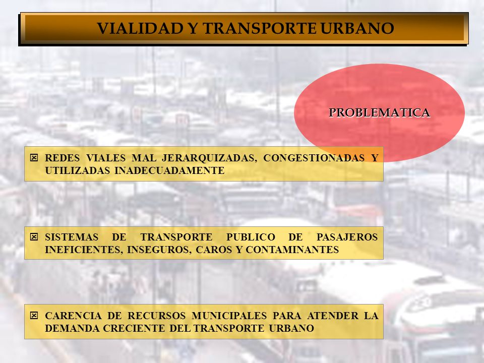 PROYECTO DE VIALIDAD Y TRANSPORTE URBANO PARA CIUDADES MEDIAS 1992 - 2000 Carlos Valdez Mariscal