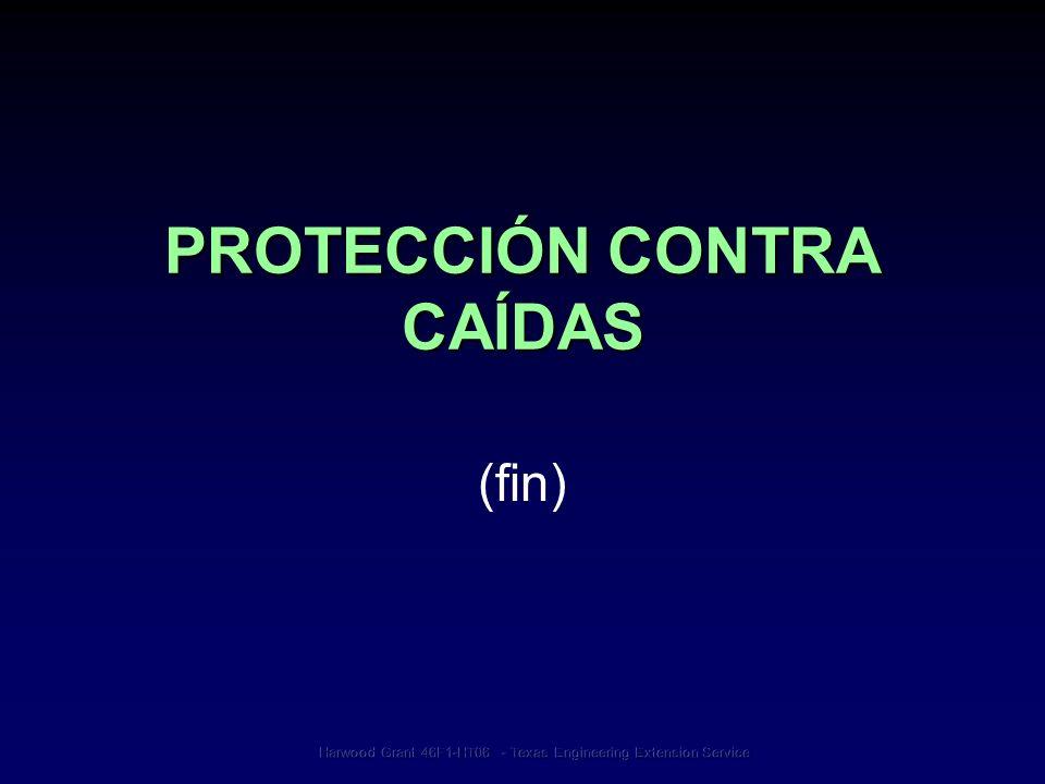 PROTECCIÓN CONTRA CAÍDAS (fin)