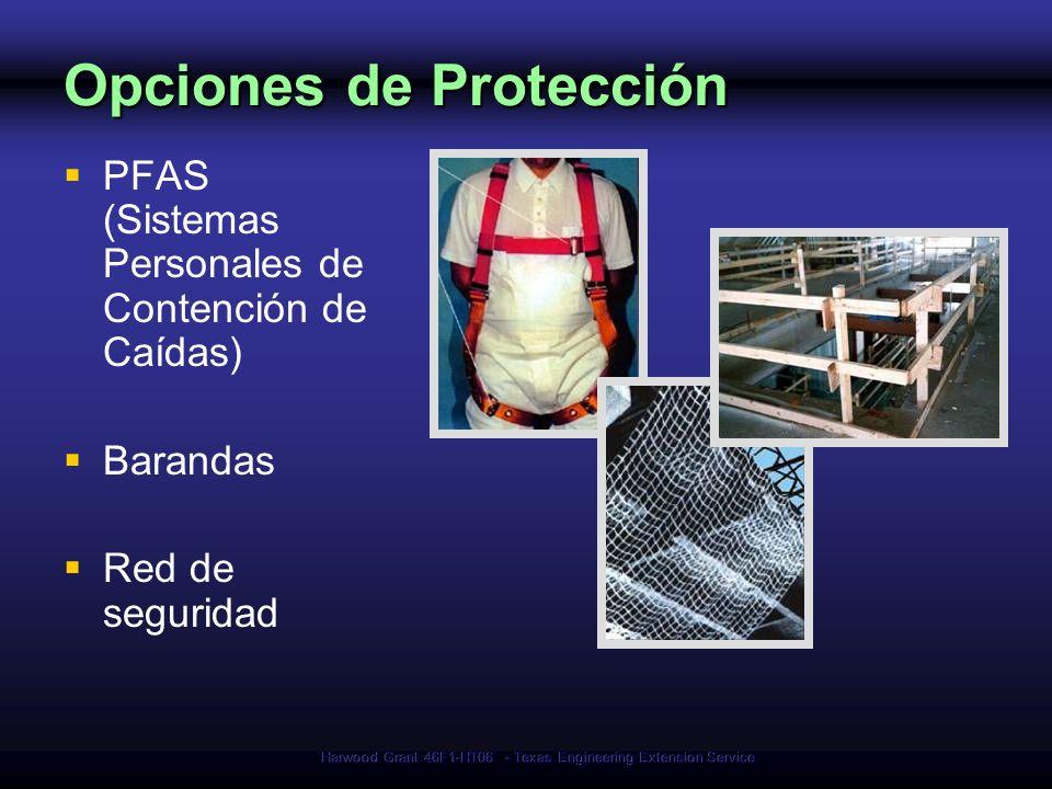 Harwood Grant 46F1-HT06 - Texas Engineering Extension Service Opciones de Protección PFAS (Sistemas Personales de Contención de Caídas) Barandas Red d