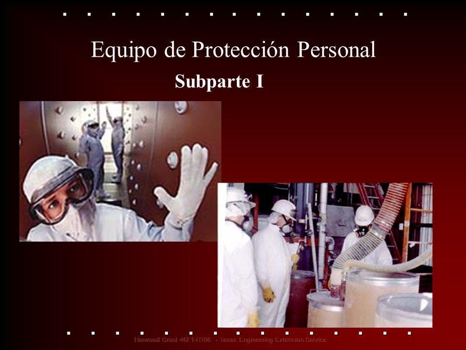 Equipo de Protección Personal Subparte I