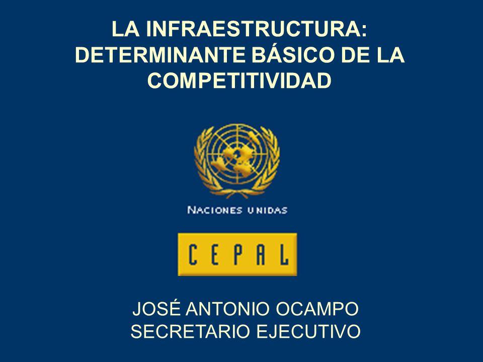 LA INFRAESTRUCTURA: DETERMINANTE BÁSICO DE LA COMPETITIVIDAD JOSÉ ANTONIO OCAMPO SECRETARIO EJECUTIVO