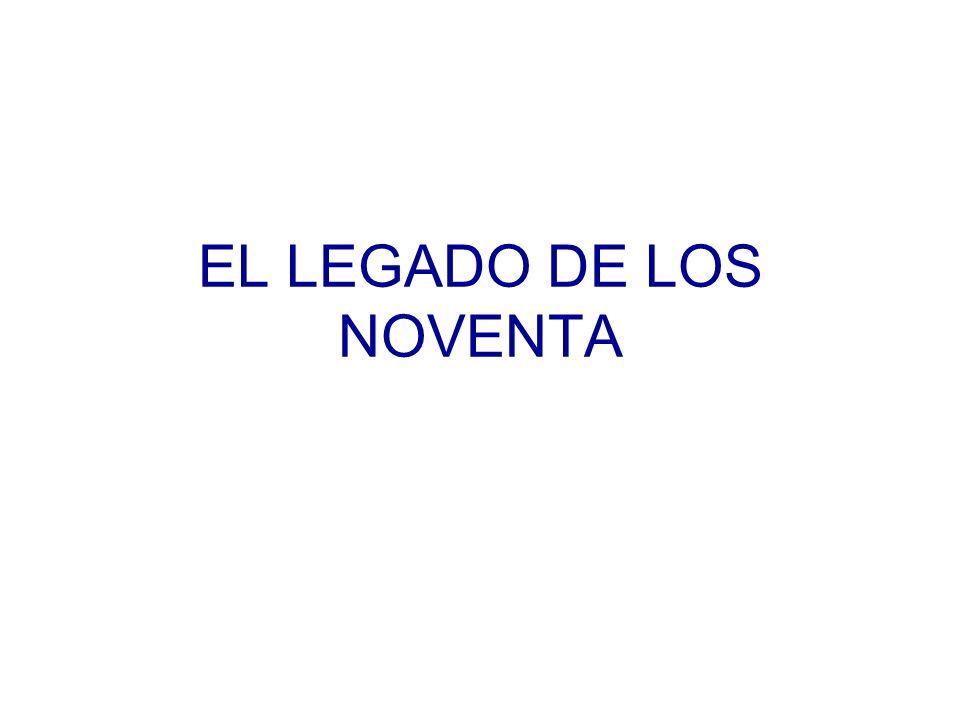 EL LEGADO DE LOS NOVENTA