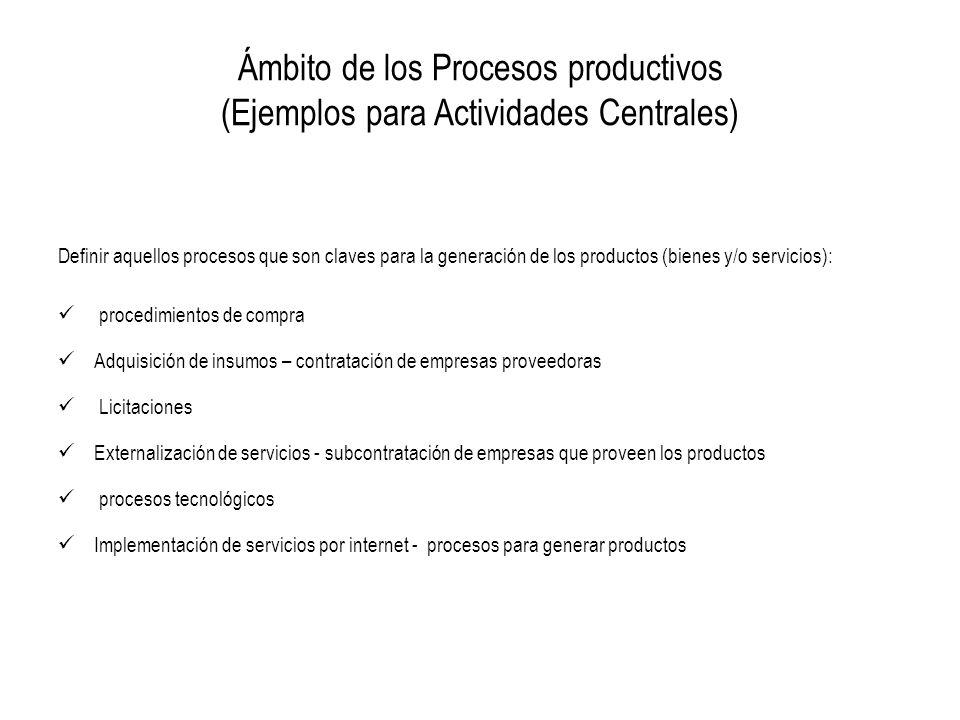 Producto (productos finales): Bienes y/o servicios públicos producidos o entregados por la institución para cumplir con su misión.