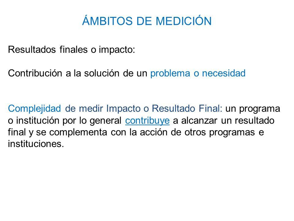Resultados finales (impacto): ¿Cómo identificar el Impacto de nuestra institución.