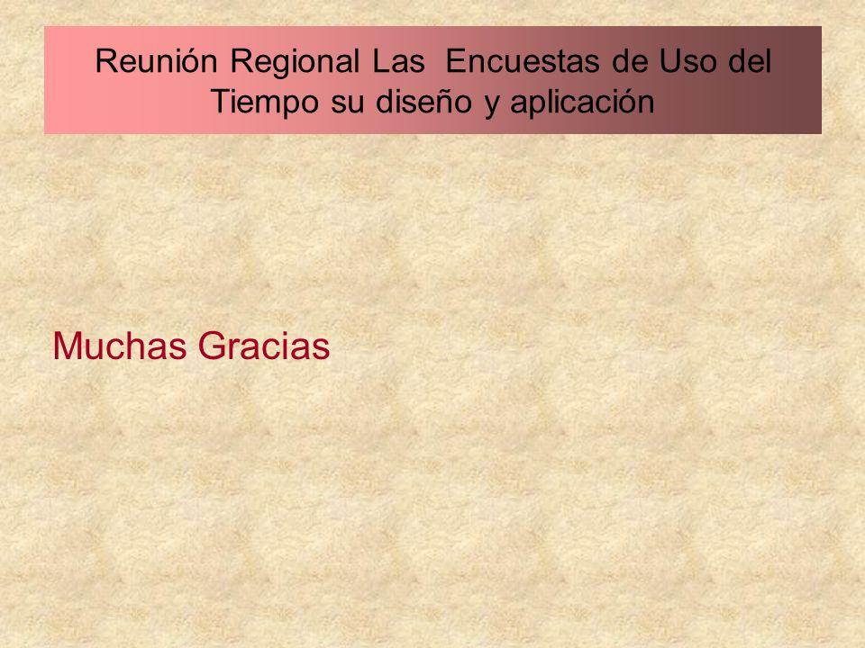 Muchas Gracias Reunión Regional Las Encuestas de Uso del Tiempo su diseño y aplicación