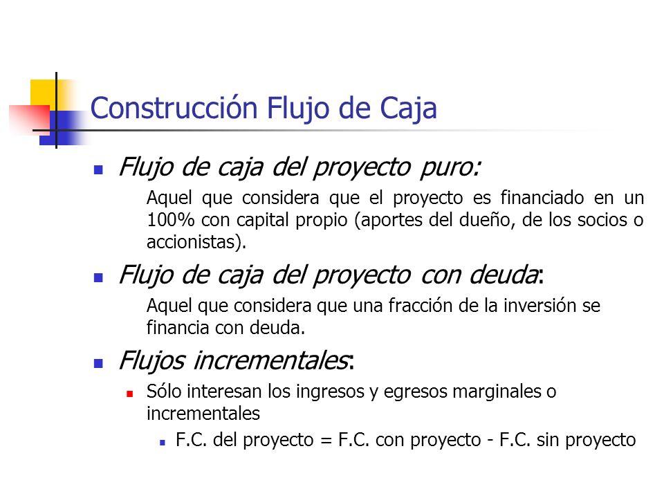 Construcción Flujo de Caja Flujo de caja (o flujo de tesorería o flujo de efectivo) es la diferencia entre los ingresos y egresos de caja que genera e