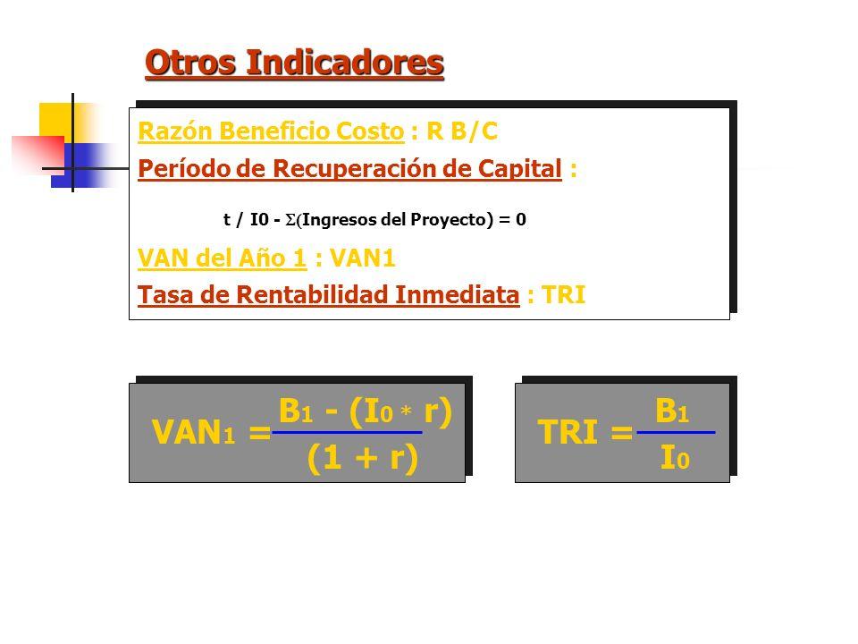EQUIVALENCIAS CAE por Beneficiario : CAE/B CAE CAE/B = N° de beneficiarios Proyectos con diferentes: Número de Beneficiarios Vida Util