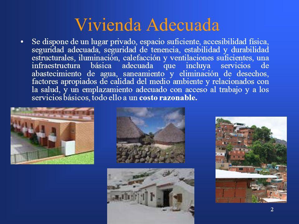 3 Vivienda Social Aquella residencia que es producto de las políticas habitacionales dirigidas a los grupos más desposeídos de la sociedad, que no pueden optar por sus propios recursos a las viviendas del mercado inmobiliario.