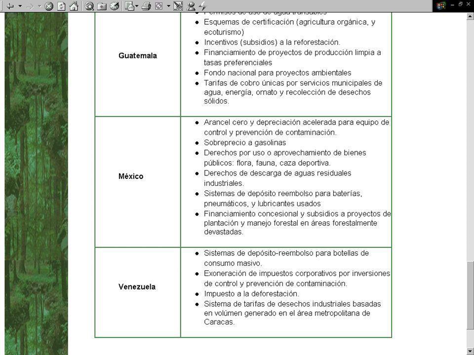 Motivación : Taller Regional de Política Fiscal y Medio Ambiente Ofrecer foro de discusión para : 1.Analizar los desafíos de Coordinación de políticas fiscal-ambiental en América Latina 2.Identificar oportunidades para una agenda de trabajo conjunto entre autoridades ambiental fiscal Ocho estudios de caso nacionales 2004