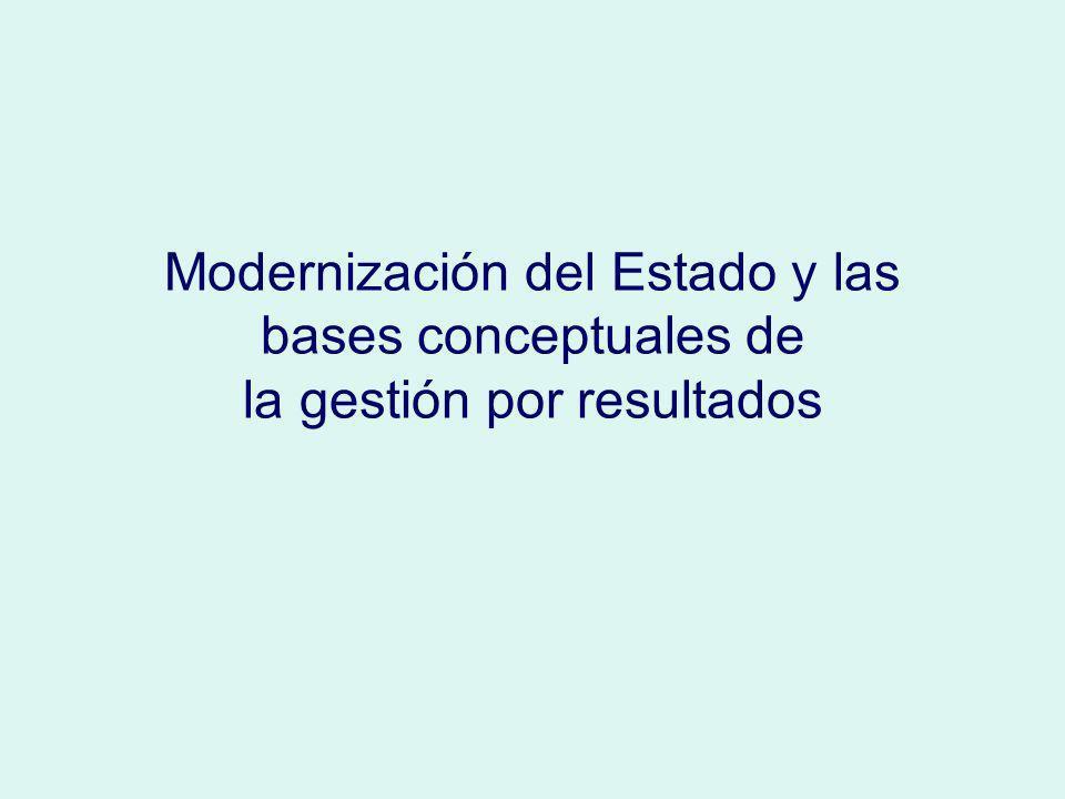 Modernización del Estado y las bases conceptuales de la gestión por resultados