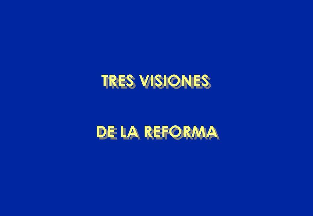 DE LA REFORMA TRES VISIONES