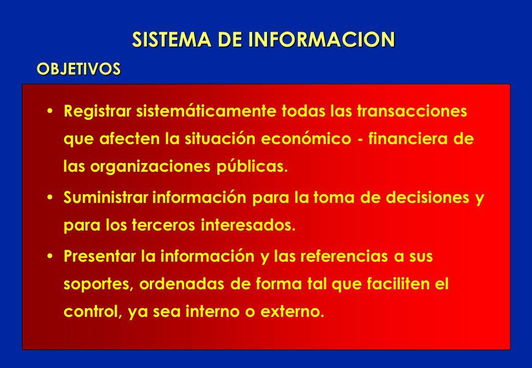 Registrar sistemáticamente todas las transacciones que afecten la situación económico - financiera de las organizaciones públicas.