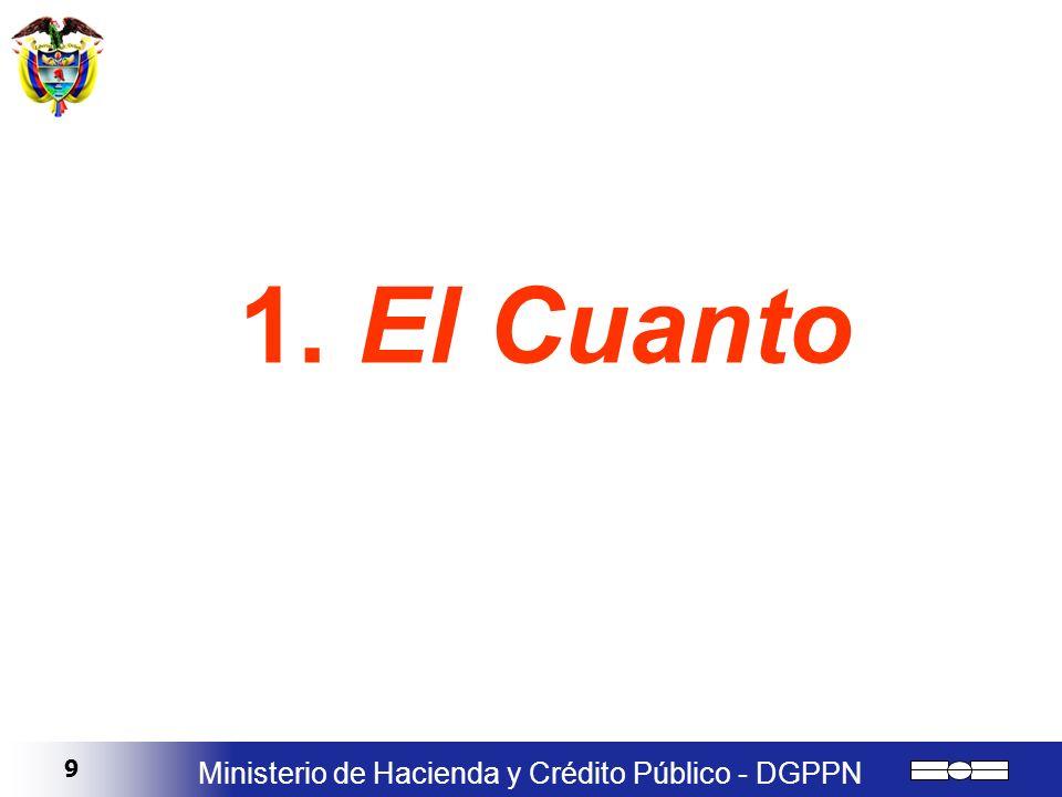 9 Ministerio de Hacienda y Crédito Público - DGPPN 1. El Cuanto