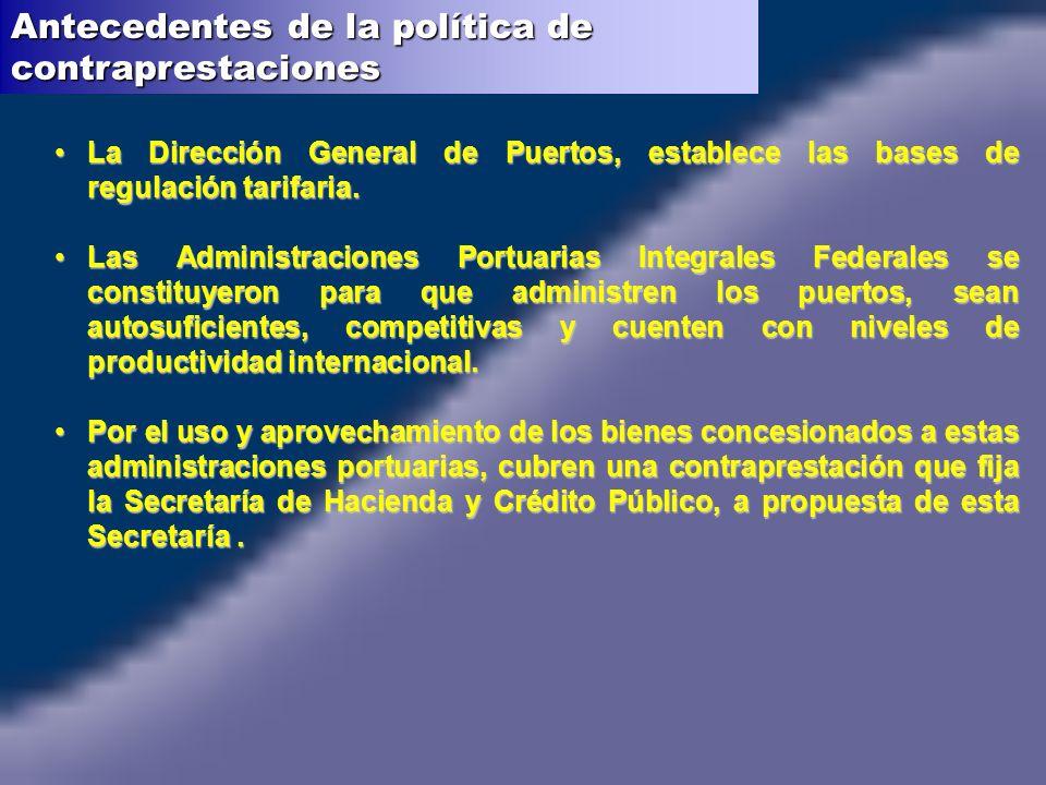 La Dirección General de Puertos, establece las bases de regulación tarifaria.La Dirección General de Puertos, establece las bases de regulación tarifa