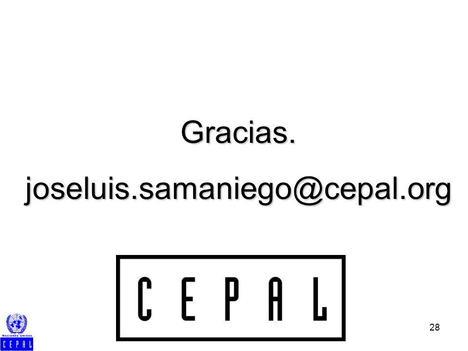 28 Gracias.joseluis.samaniego@cepal.org