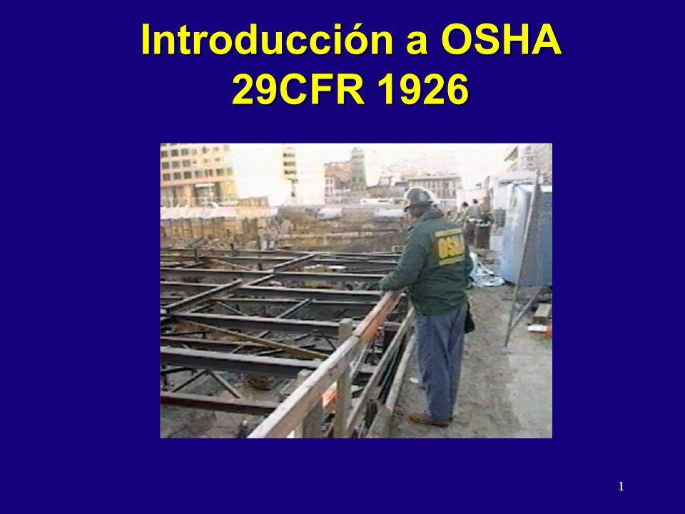 1 Introducción a OSHA 29CFR 1926