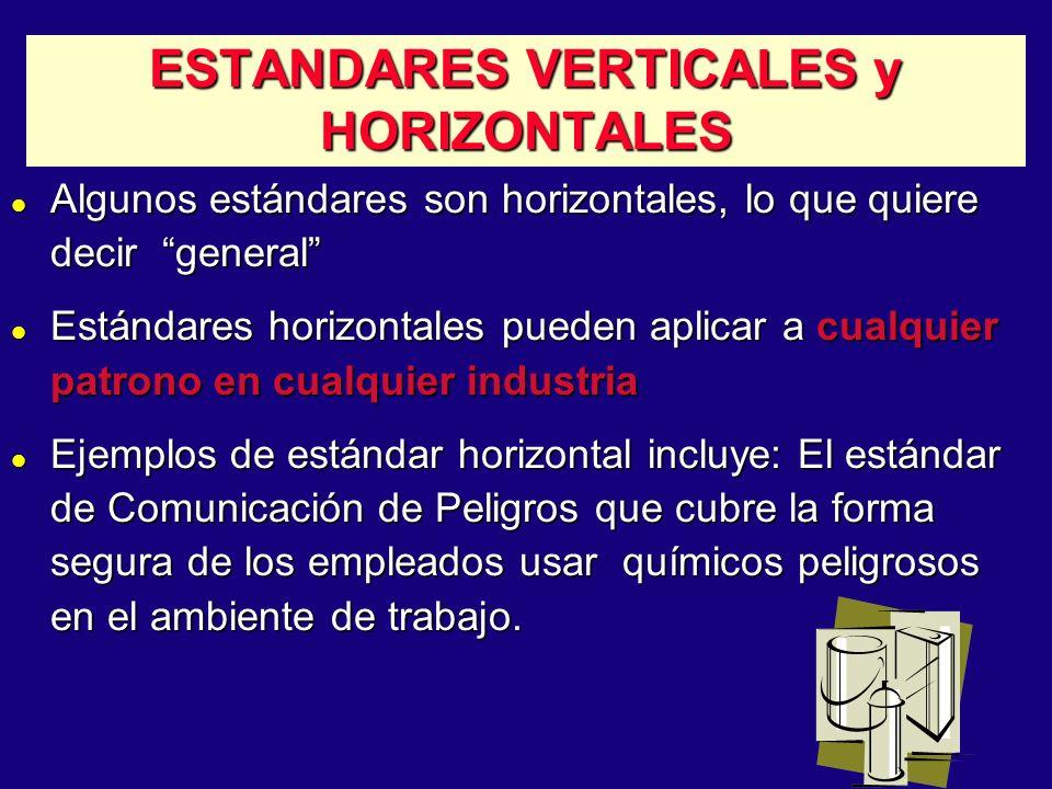 20 ESTANDARES VERTICALES y HORIZONTALES l Algunos estándares son horizontales, lo que quiere decir general l Estándares horizontales pueden aplicar a