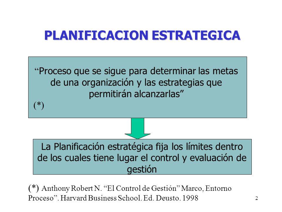 2 PLANIFICACION ESTRATEGICA Proceso que se sigue para determinar las metas de una organización y las estrategias que permitirán alcanzarlas (*) La Pla
