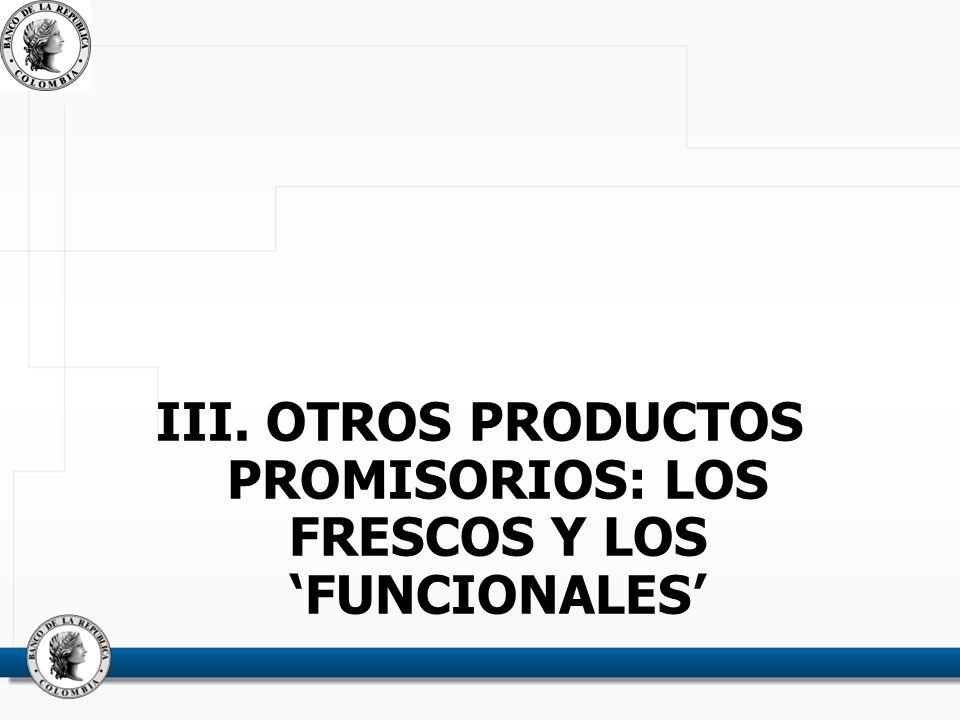 III. OTROS PRODUCTOS PROMISORIOS: LOS FRESCOS Y LOS FUNCIONALES