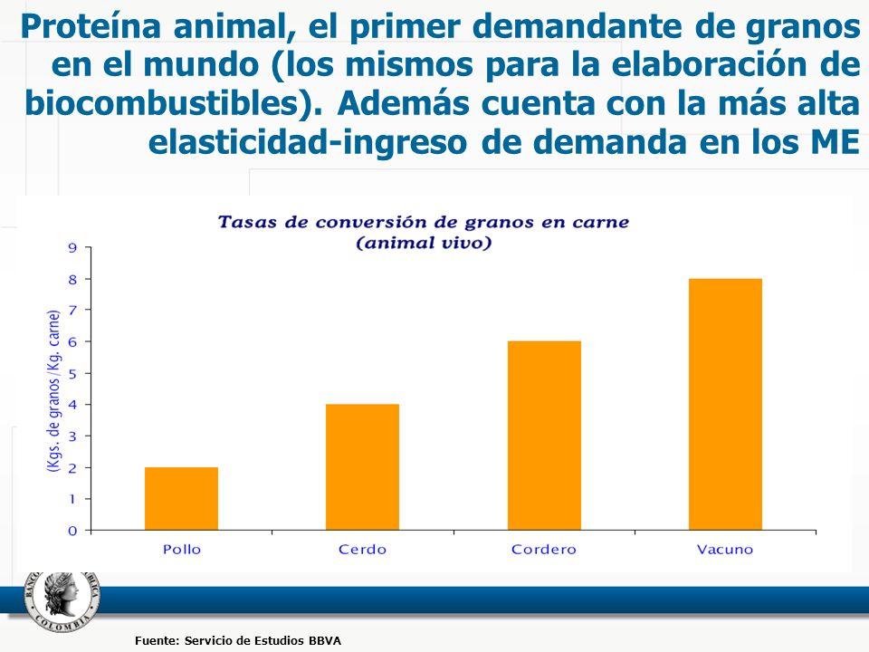 Proteína animal, el primer demandante de granos en el mundo (los mismos para la elaboración de biocombustibles).
