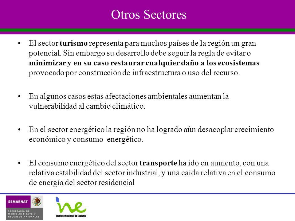 Otros Sectores El sector turismo representa para muchos países de la región un gran potencial.