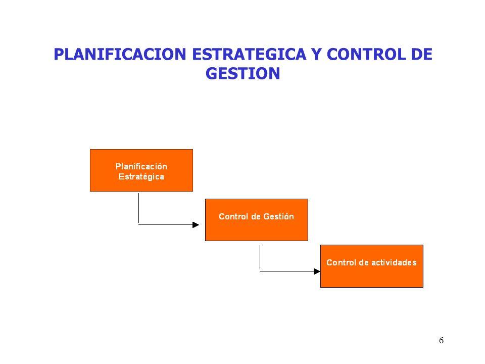 6 PLANIFICACION ESTRATEGICA Y CONTROL DE GESTION
