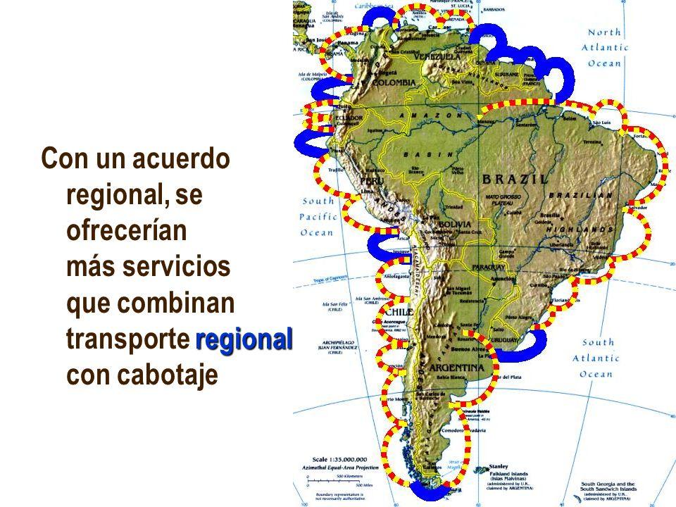 JHoffmann @ ECLAC.cl regional Con un acuerdo regional, se ofrecerían más servicios que combinan transporte regional con cabotaje