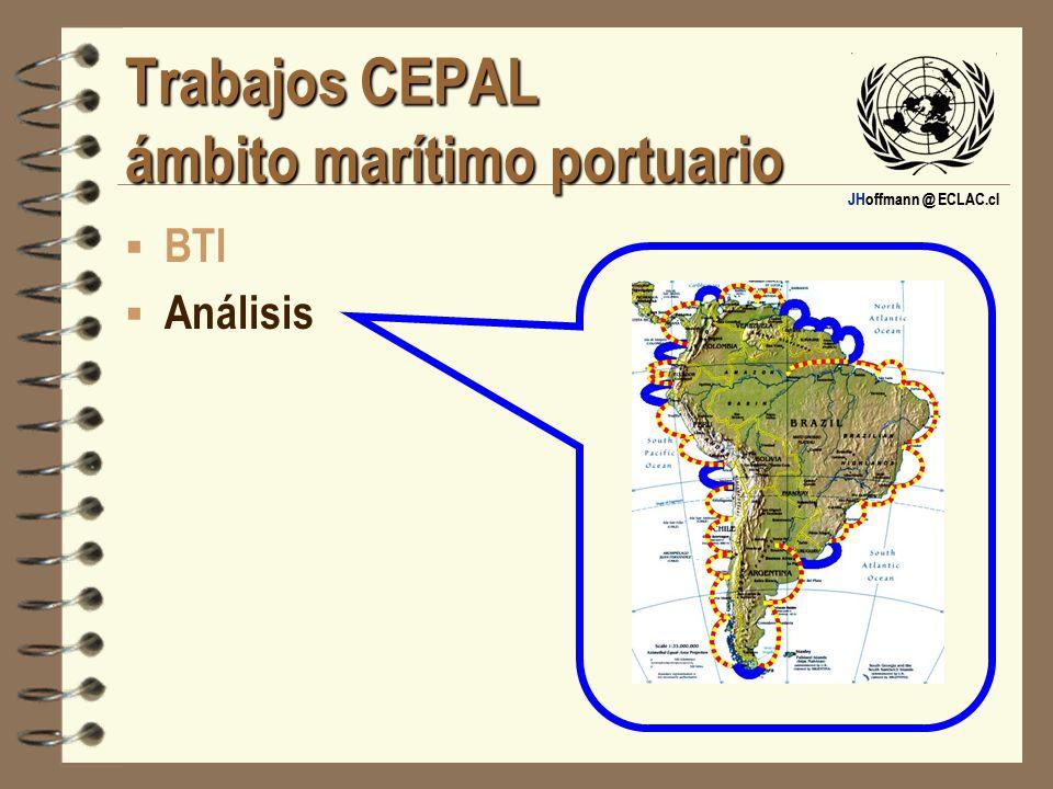 JHoffmann @ ECLAC.cl Trabajos CEPAL ámbito marítimo portuario BTI Análisis