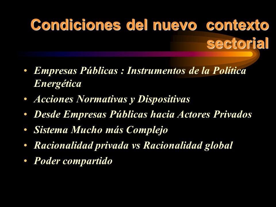 INTEGRACIÓN REGIONAL y REINTEGRACION VERTICAL Y DE LAS CADENAS ENERGETICAS 1.