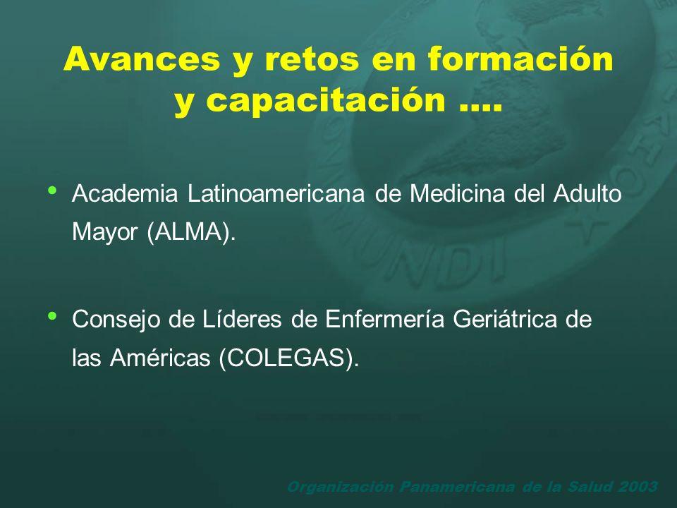 Organización Panamericana de la Salud 2003 Academia Latinoamericana de Medicina del Adulto Mayor (ALMA). Consejo de Líderes de Enfermería Geriátrica d