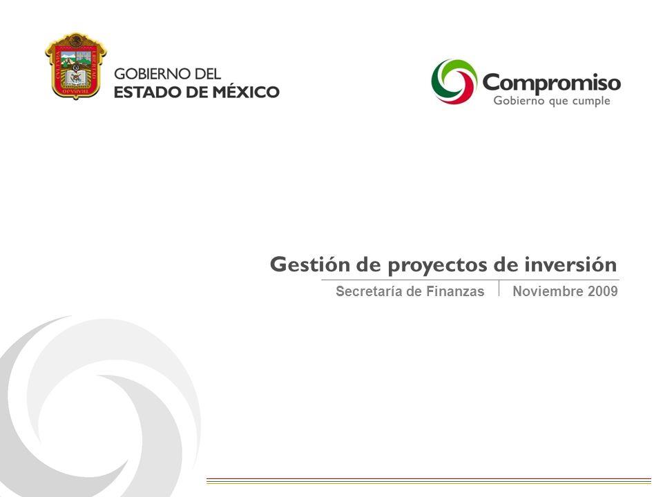 Noviembre 2009Secretaría de Finanzas Gestión de proyectos de inversión
