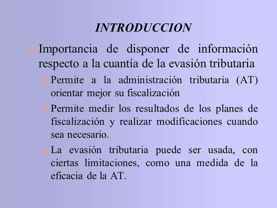 INTRODUCCION 4 Importancia de disponer de información respecto a la cuantía de la evasión tributaria 4 Permite a la administración tributaria (AT) ori