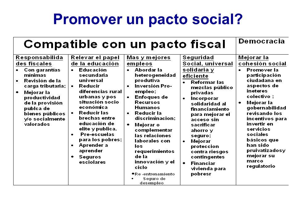 Promover un pacto social?