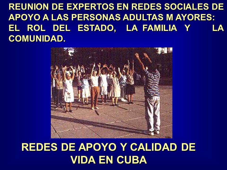 REUNION DE EXPERTOS EN REDES SOCIALES DE APOYO A LAS PERSONAS ADULTAS M AYORES: EL ROL DEL ESTADO, LA FAMILIA Y LA COMUNIDAD.