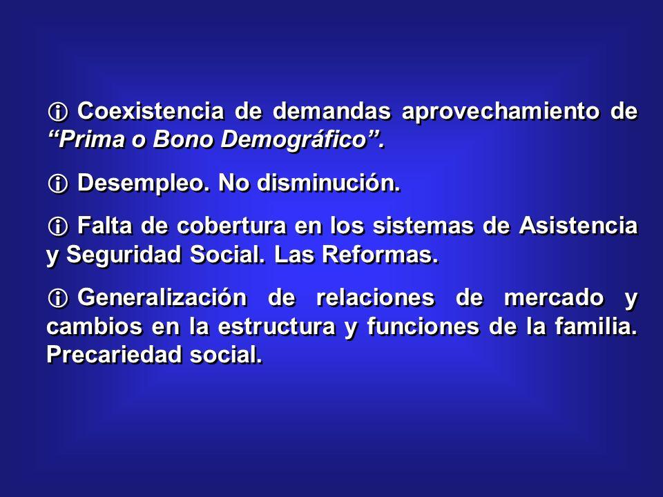 Coexistencia de demandas aprovechamiento de Prima o Bono Demográfico.