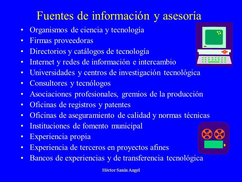 Héctor Sanín Angel Fuentes de información y asesoría Organismos de ciencia y tecnología Firmas proveedoras Directorios y catálogos de tecnología Inter
