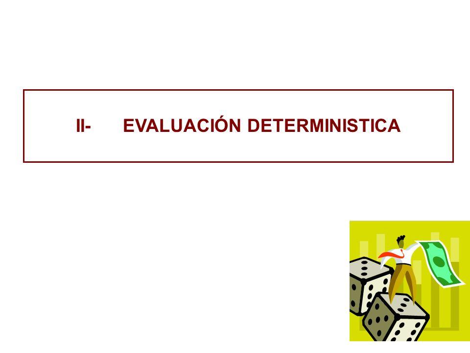 II- EVALUACIÓN DETERMINISTICA
