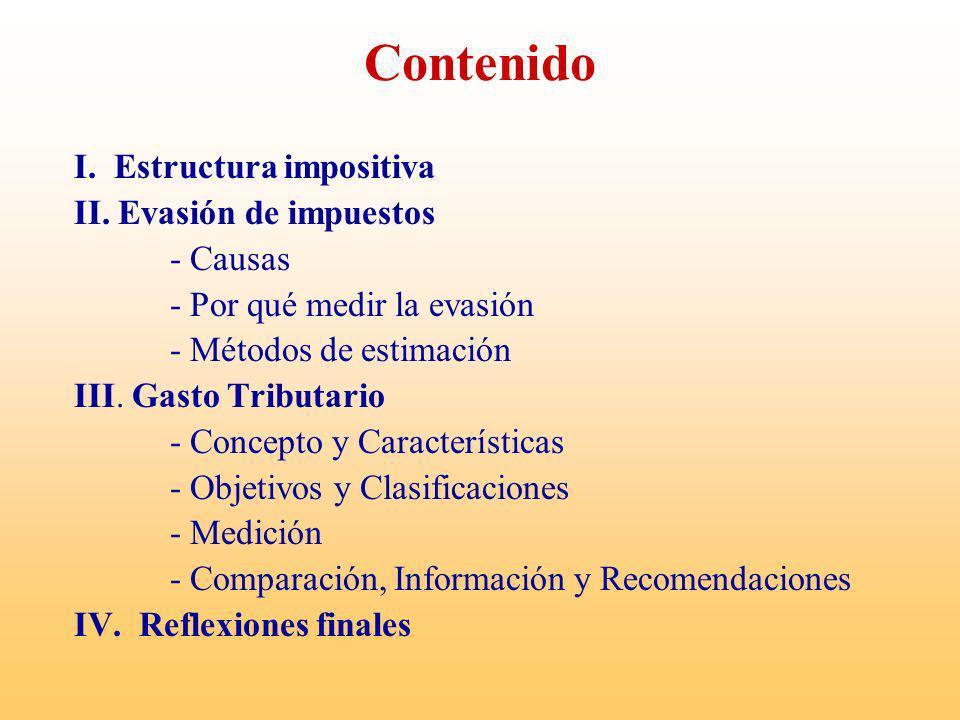 I.- Estructura impositiva Objetivo de un Sistema Tributario: proporcionar recursos suficientes para financiar el Gasto Público.