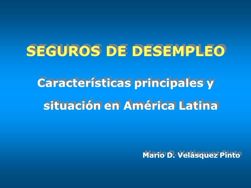 SEGUROS DE DESEMPLEO Características principales y situación en América Latina Mario D.