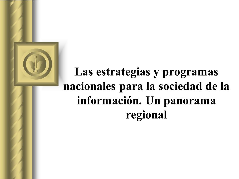 Las estrategias y programas nacionales para la sociedad de la información.