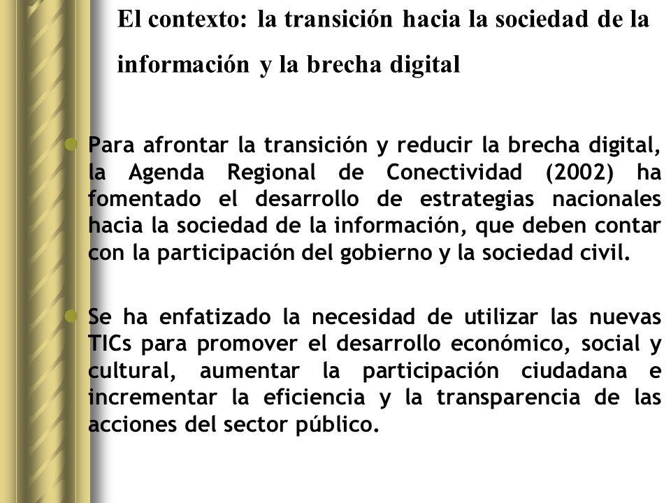Los programas nacionales de informatización de las escuelas públicas: casos En Chile, el proyecto Red Enlaces (http://www.redenlaces.cl/) se propuso construir una Red Nacional entre todas las escuelas y liceos del país.