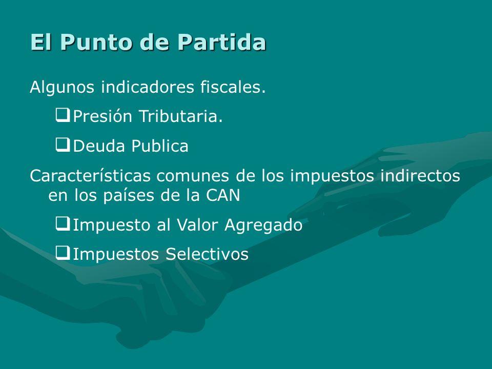 El Punto de Partida Algunos indicadores fiscales.Presión Tributaria.