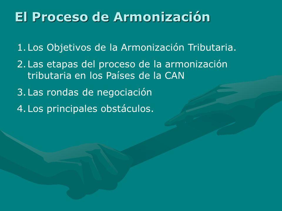 El Proceso de Armonización 1.Los Objetivos de la Armonización Tributaria.