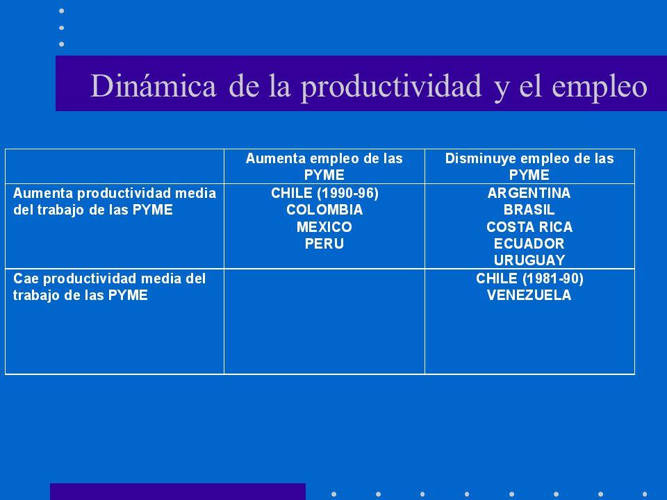 Dinámica de la productividad y el empleo