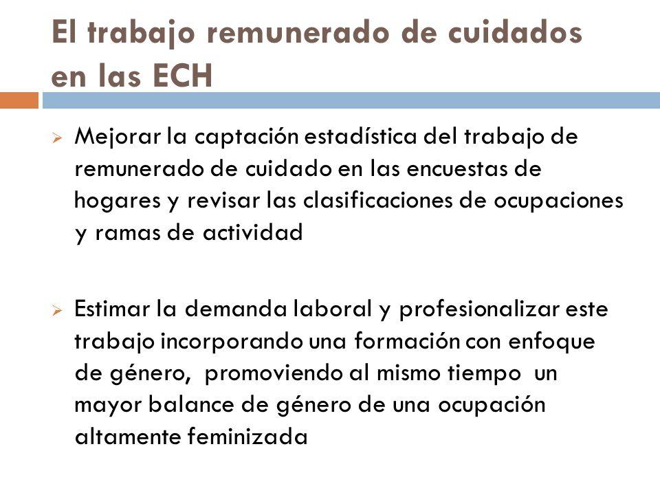 El trabajo remunerado de cuidados en las ECH Mejorar la captación estadística del trabajo de remunerado de cuidado en las encuestas de hogares y revis