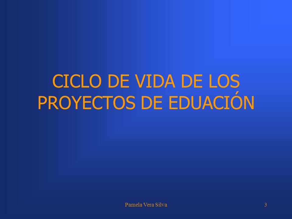 Pamela Vera Silva3 CICLO DE VIDA DE LOS PROYECTOS DE EDUACIÓN